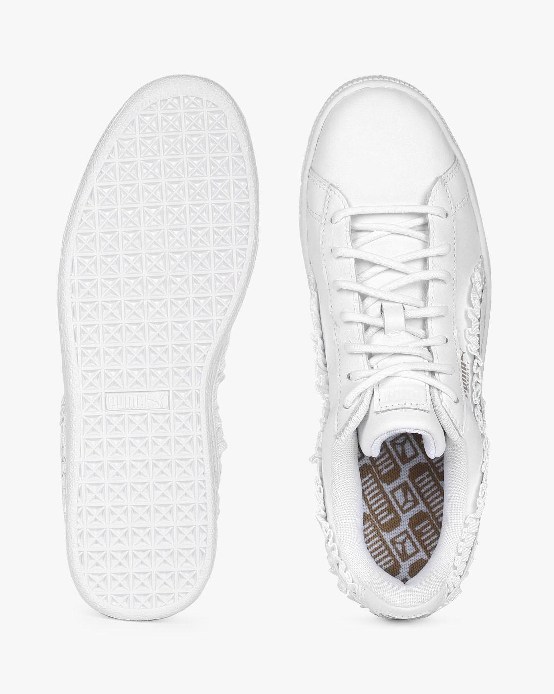 Buy Puma Women White Leather Lace-Up