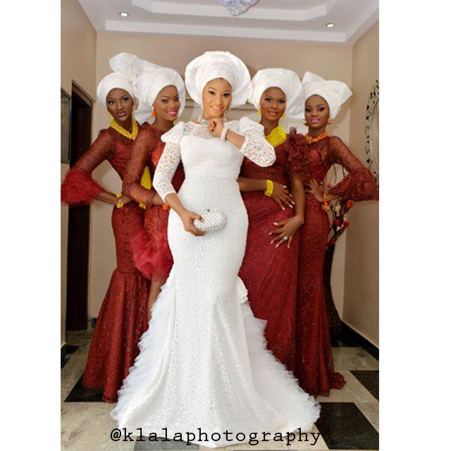 Absolutely Stunning Bride Shares Her 11th Wedding Anniversary With Her Bridesmaids In Style Wedding Dige African Wedding African Wedding Dress African Dress