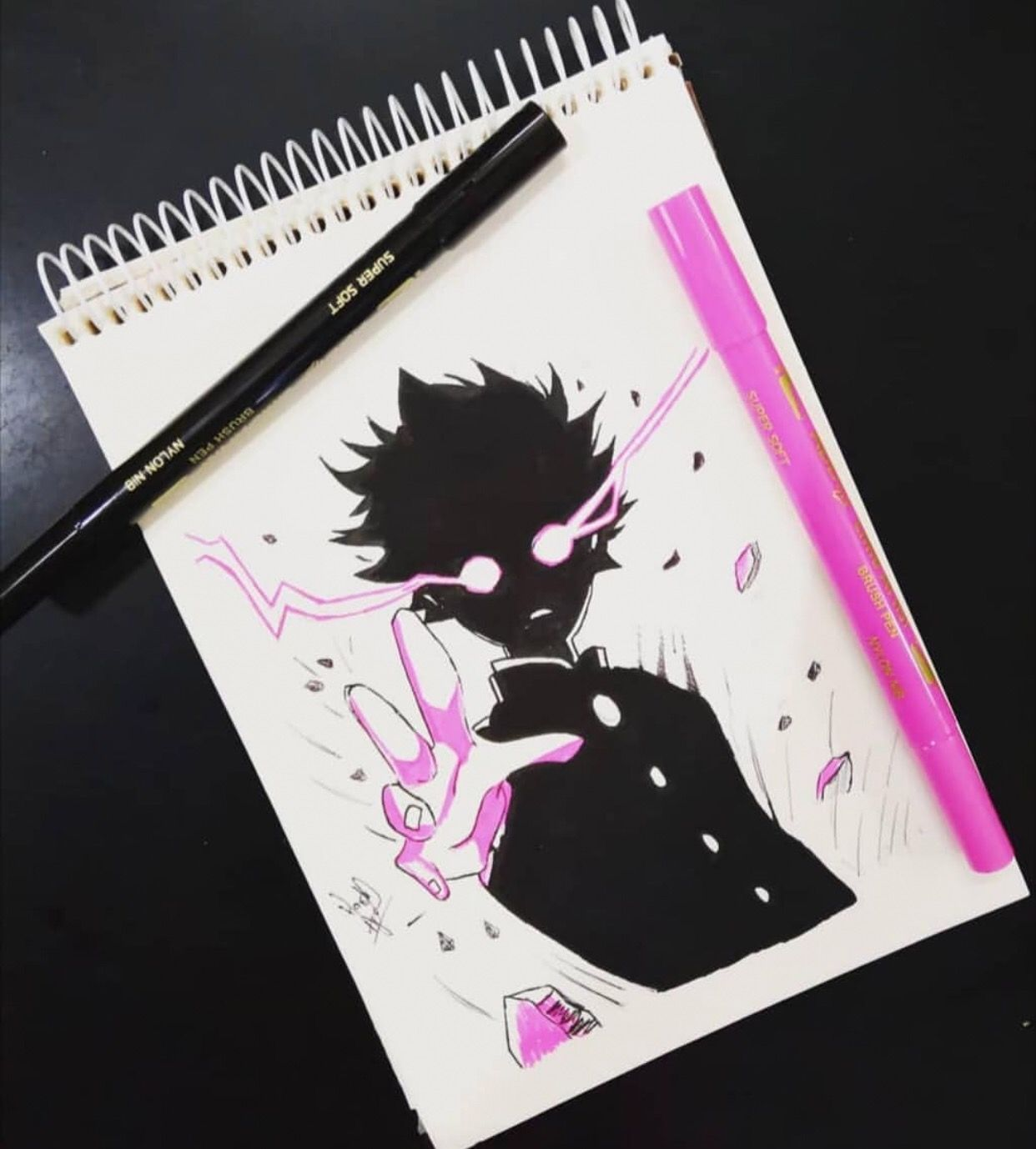 Mob By Animaniac Sketch Visit Our Website For More Anime And Animeart Mobpsycho100 Don T Forget To Follow Our B Anime Art Anime Character Art