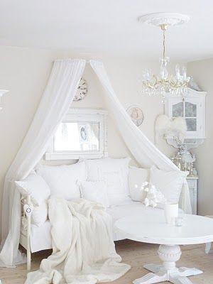 Tagesbett Baldachin u2026 Pinteresu2026 - wohnzimmer weis shabby