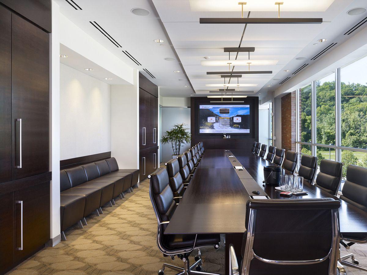 Geiger board room with herman miller eames chairs herman