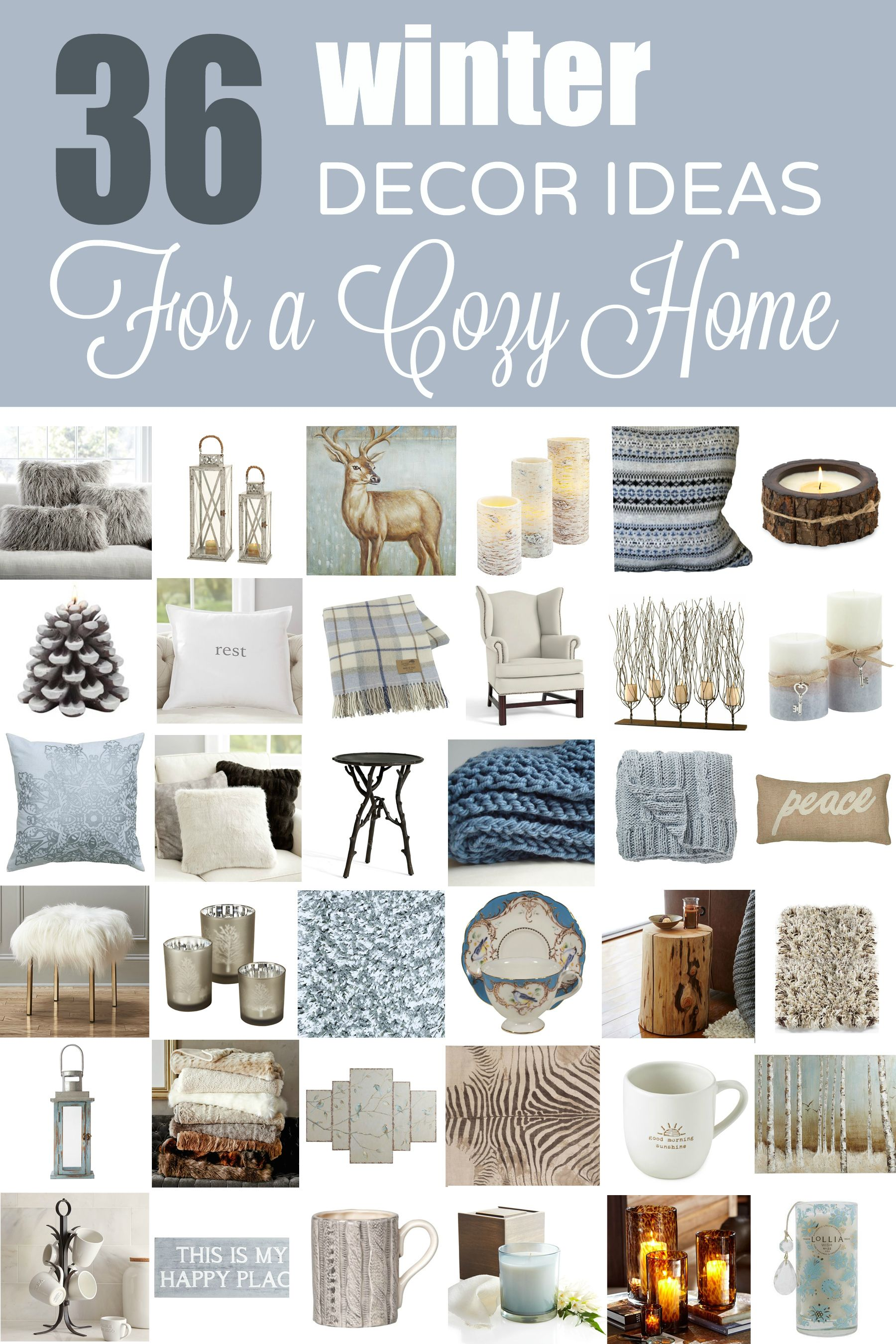 36 Winter Decorating Ideas to Cozy Up Your Home | Cozy, Winter and Hygge