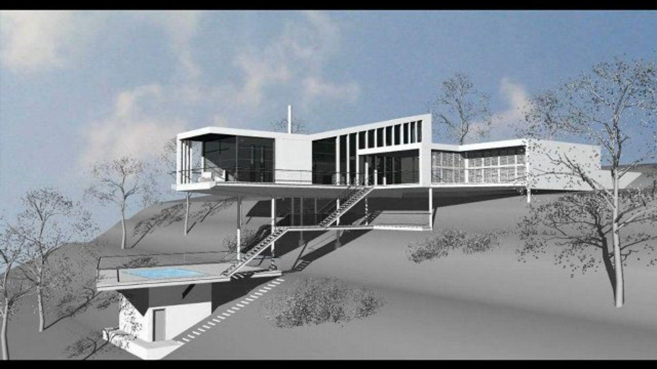 Maison Contemporaine Terrain En Pente - Home Review Fzl99 | maison ...
