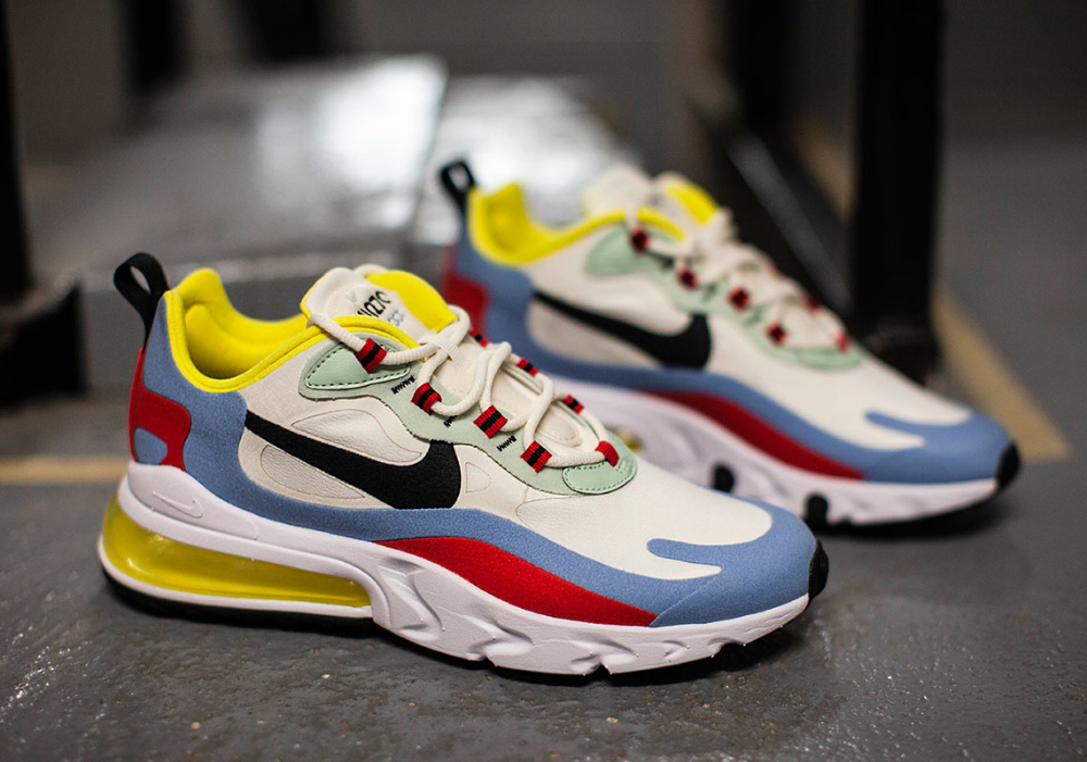 billig Nike Air Max 270 React 'Bauhaus' React White, Black