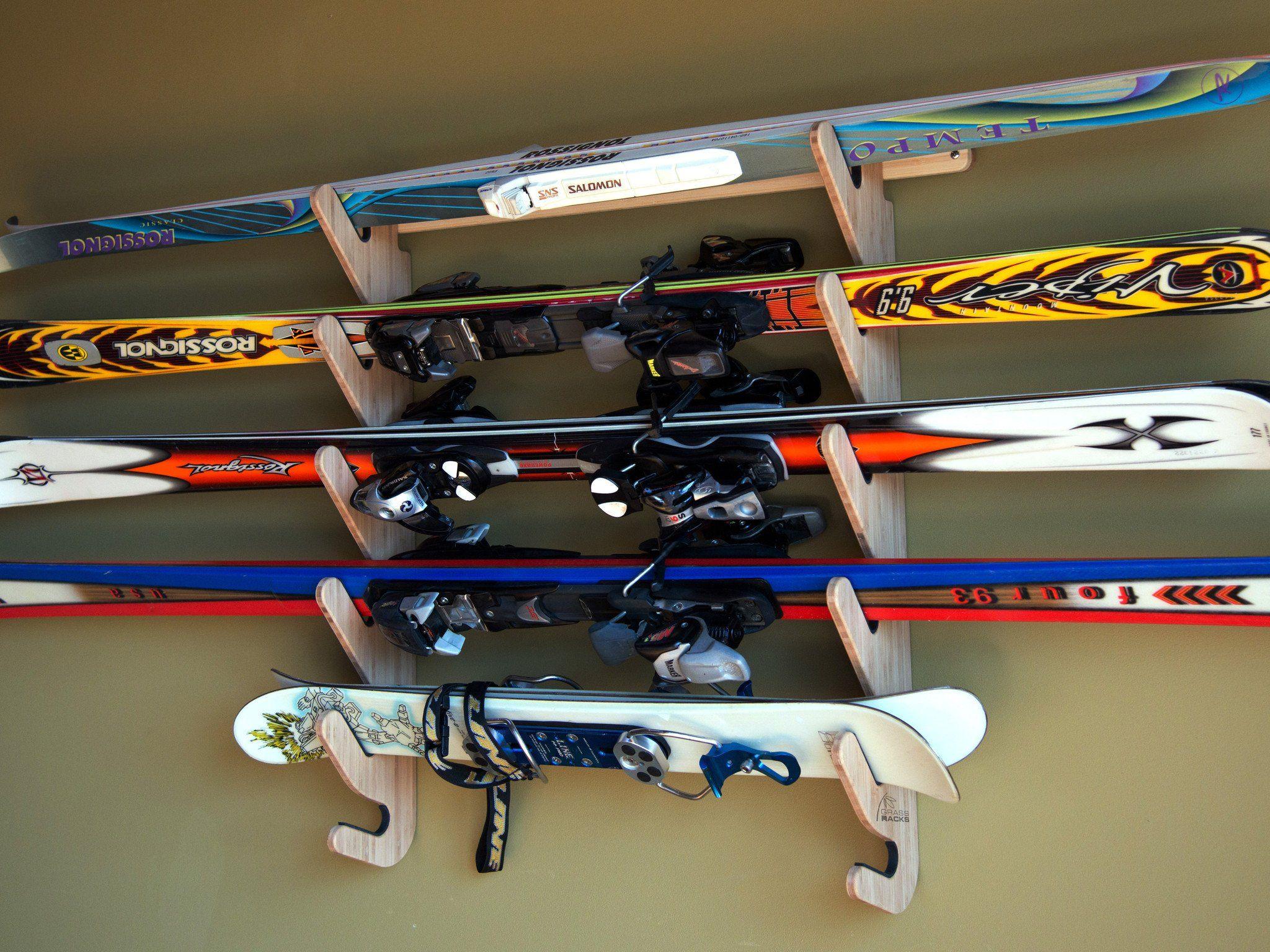 horizontal wall mounted indoor ski