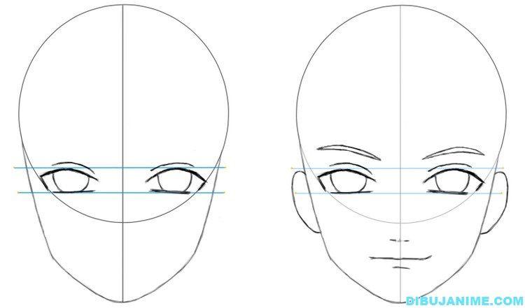 Como Dibujar A Un Hombre Anime Rostro Y Cuerpo Paso A Paso Como Dibujar Una Cara Como Dibujar Animes Tutoriales Para Dibujar Manga