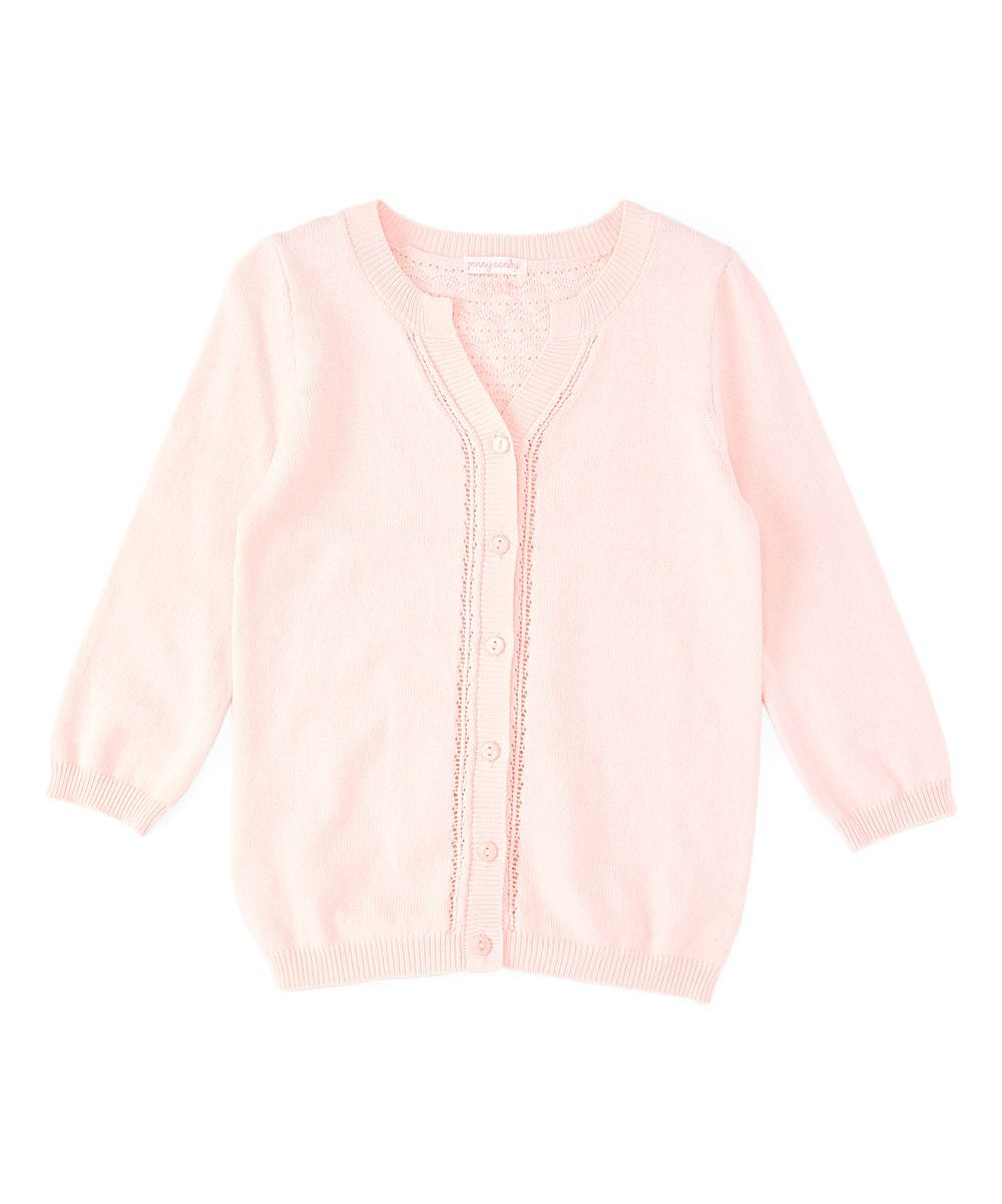 Rose Pink Lace-Back Cardigan - Toddler & Girls | Cardigans For Men ...