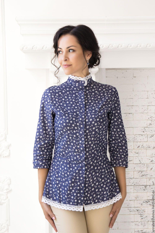 7451a70d64919f9 Купить или заказать Рубашка-Туника 'Джинса' в интернет-магазине на Ярмарке  Мастеров