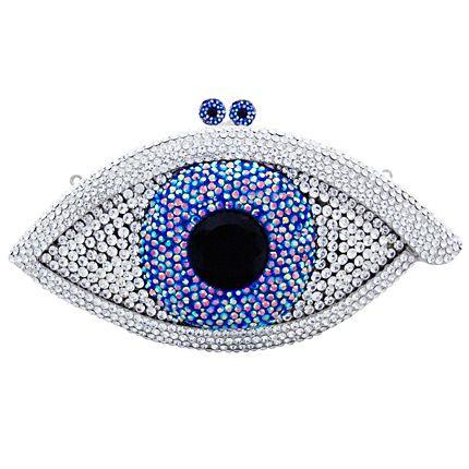 116ed8216c8 Swarovski Crystal Eye Clutch Bag | Evil eye | Evil eye jewelry ...