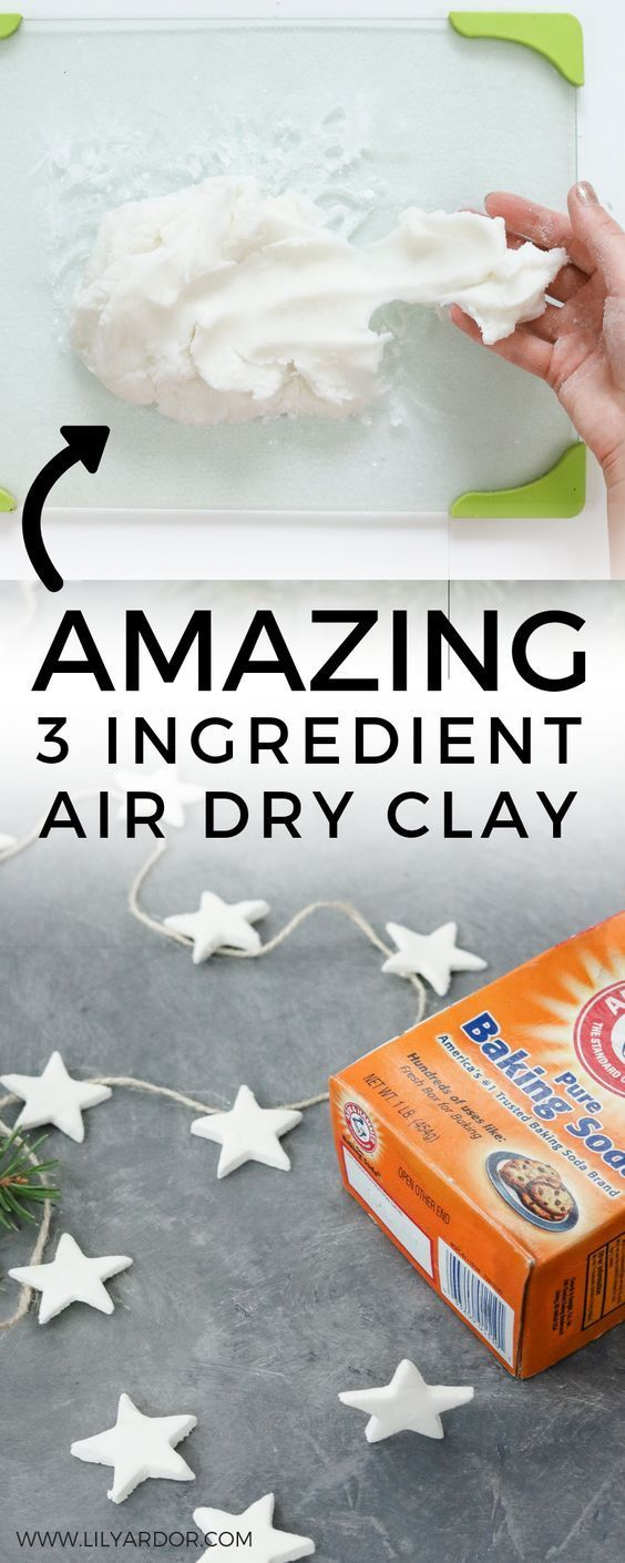 Make your own air dry clay in 5 minutes using ingredients you already have at home. Plus learn how to make a super cute star garland. :D