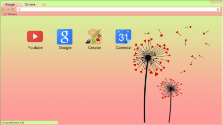14 Fun and Romantic Google Chrome Heart Themes for