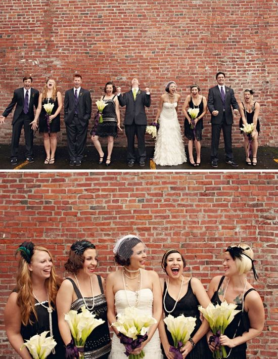 1920 S Love It D If This Is The Case Then I Already Have The Bridesmaids Dresses Picked Out 1920s Wedding Theme Wedding Inspiration 1920s Wedding