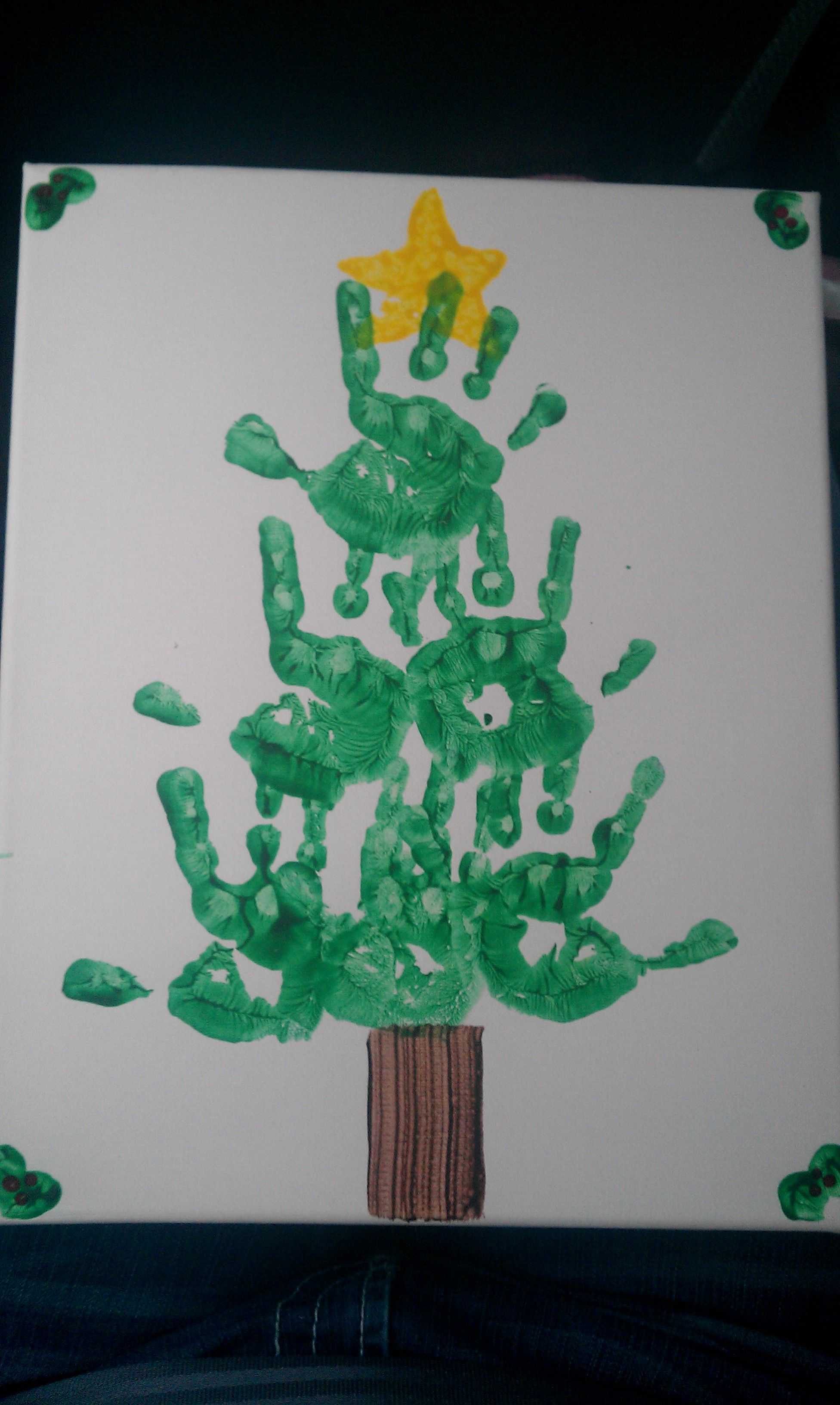 Pin By Crystal Lee On For The Home Preschool Christmas Crafts Handprint Christmas Preschool Parent Christmas Gifts