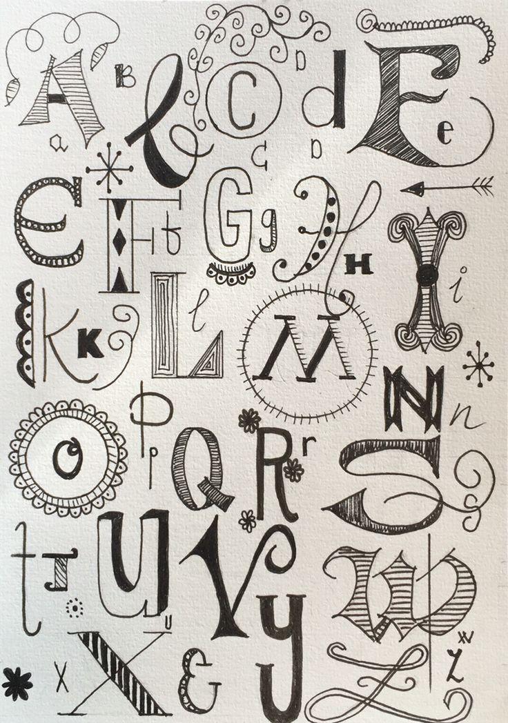 Image Result For Handwritten Doodle Alphabets
