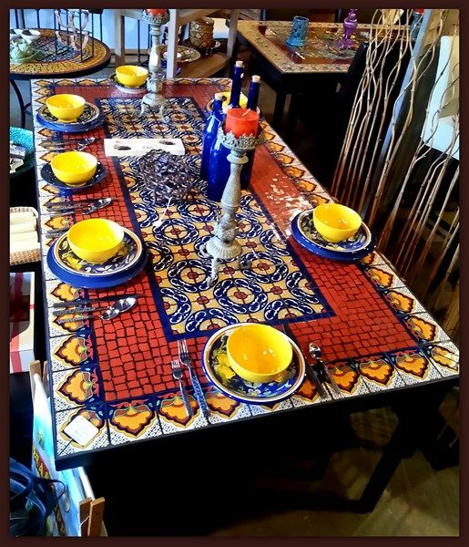 Furthur Wholesale Mosaic Dining Tables | Auction ideas ...