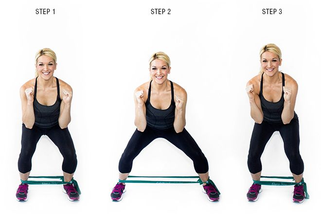 Image result for Squat Step with Resistance Band: