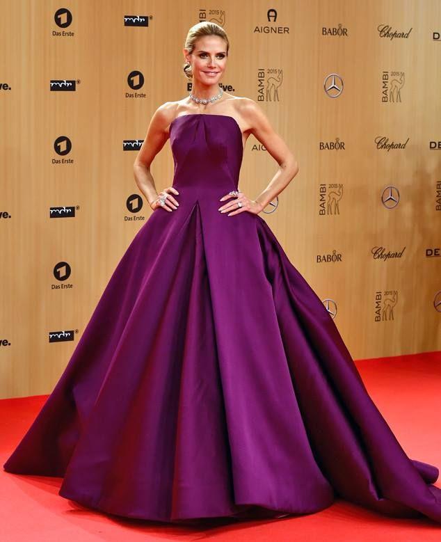 Heidi Klum in Zac Posen at the Bambi Awards held in Berlin ...