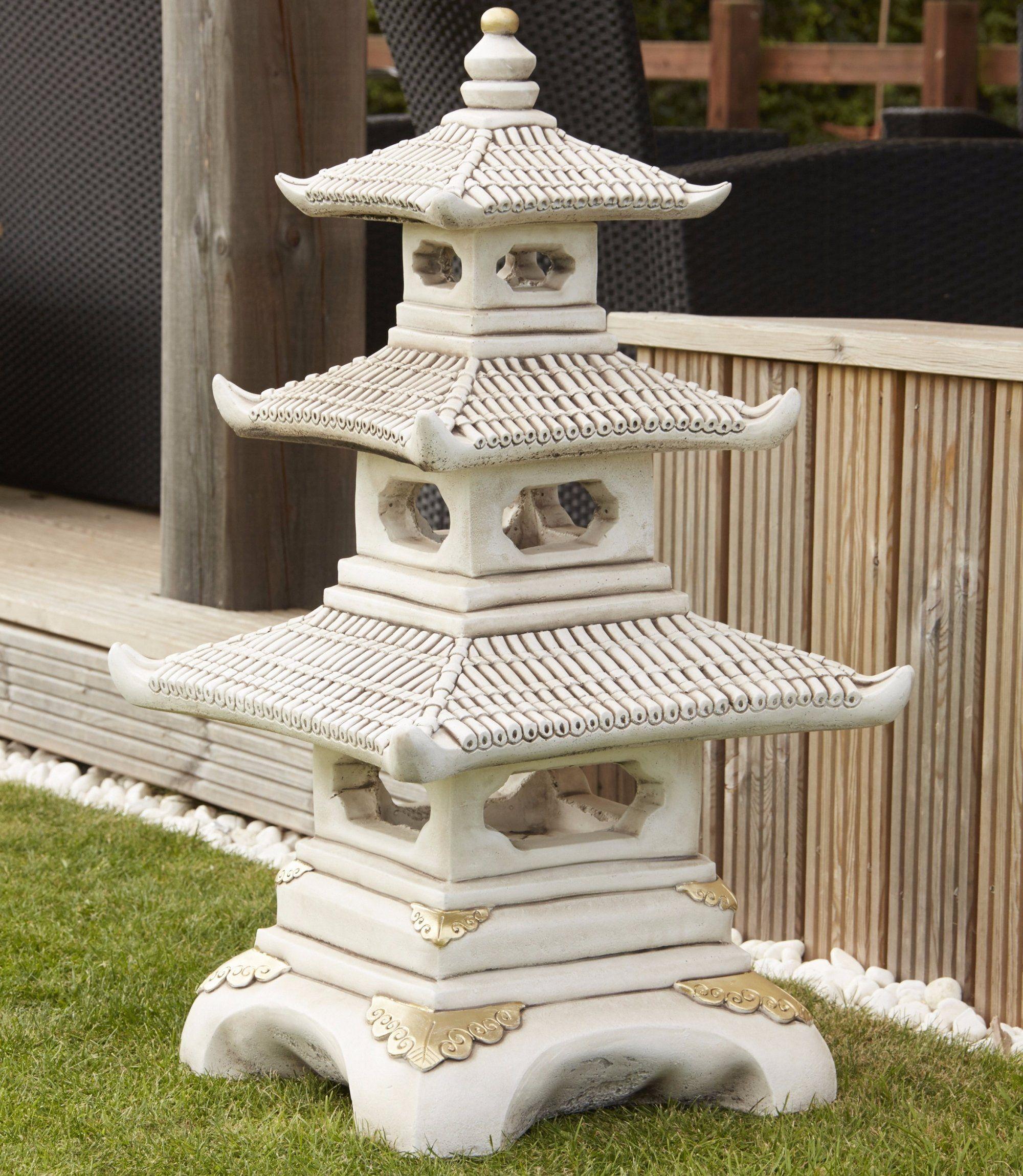 Borderstone Three Tier Pagoda Garden Ornament Pagoda