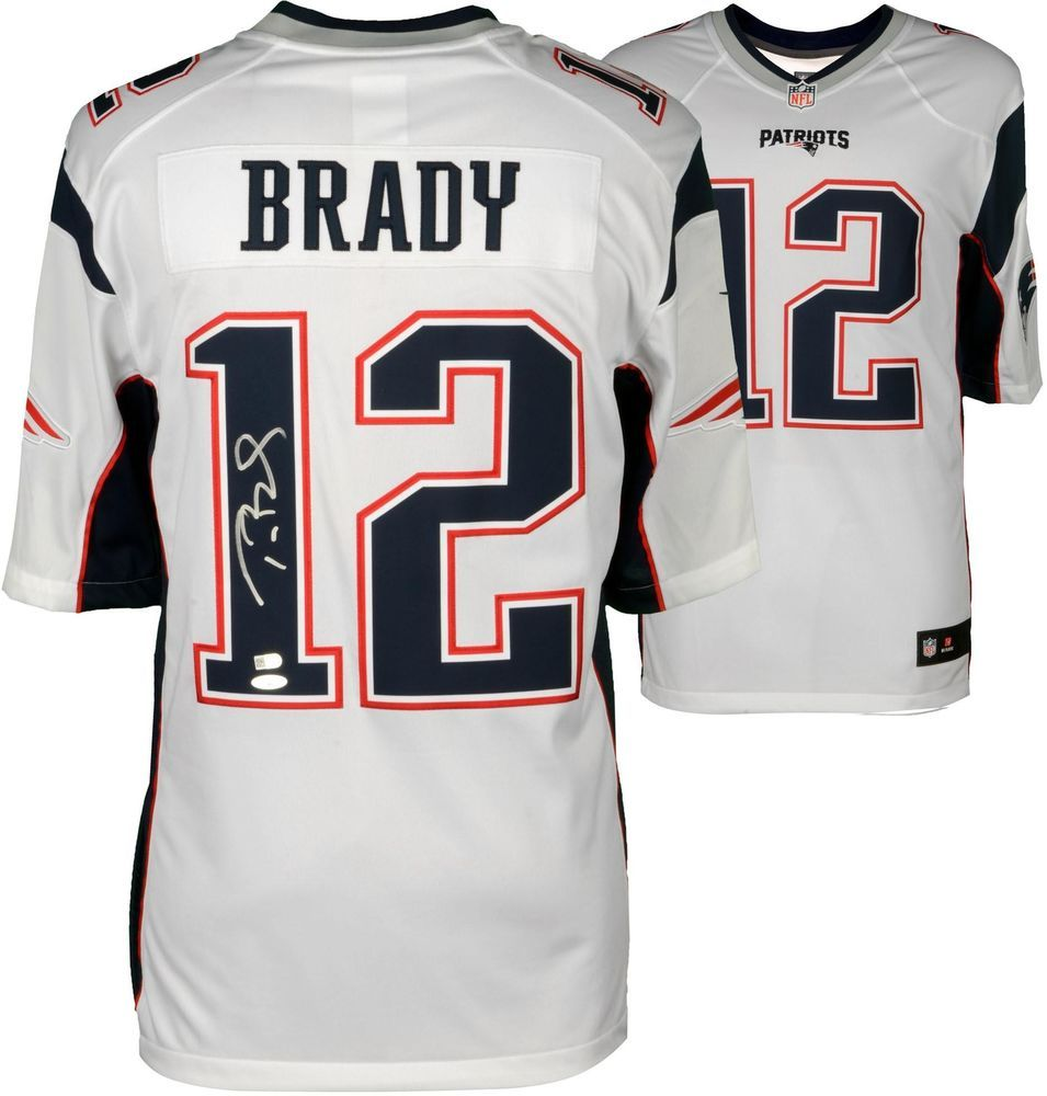 Tom Brady New England Patriots Autographed Nike Limited White Jersey Tristar Football Jersey Patriots New England Patriots Home Tom Brady News