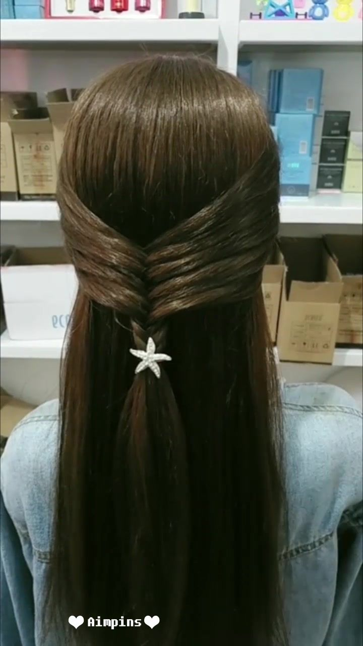 Long Hair Hairstyles For Girl Hairstyles Tutorials Compilation 2019 Part 65 Video Medium Hair Styles Long Hair Styles Hair Styles