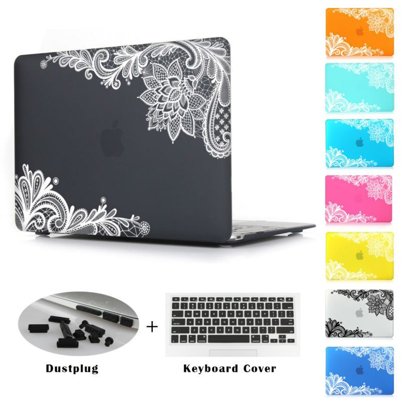 69ff606c12ea Fashion For Girls Matte Rubberized Lace Hard Case Cover Macbook Air ...