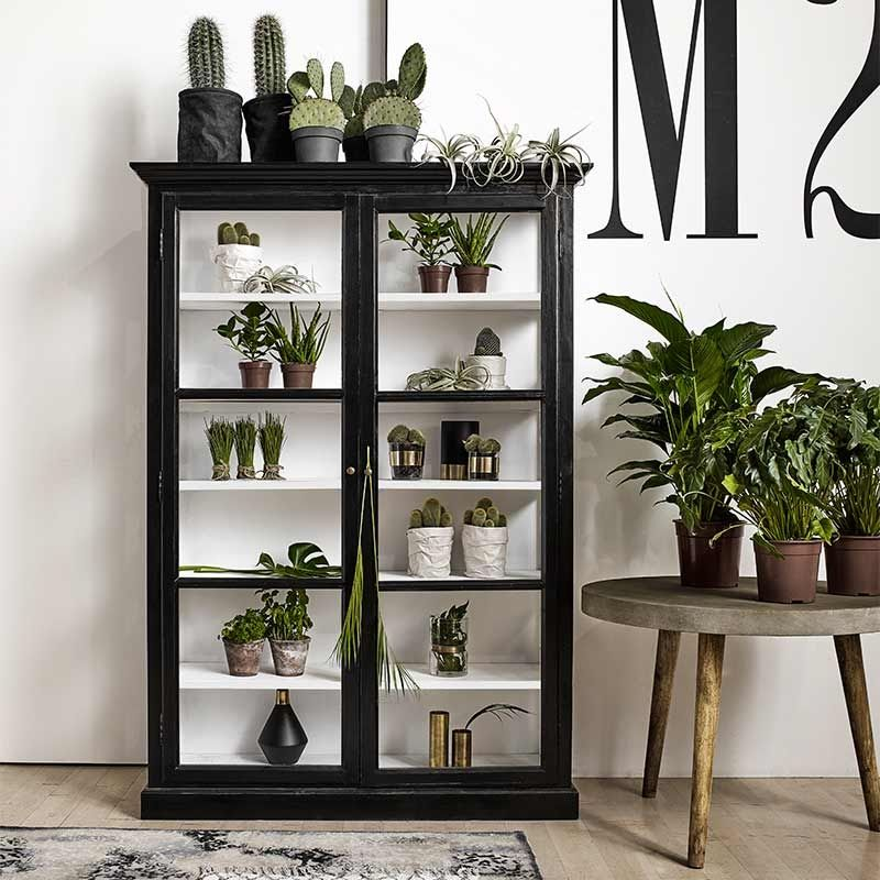 glasschrank vitrine cabinet classic double schwarz von nordal future pinterest. Black Bedroom Furniture Sets. Home Design Ideas