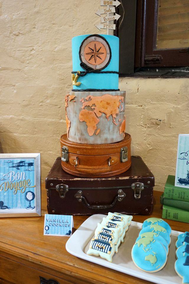 Bon Voyage | 2 Love Birds #party #printables #bonvoyage #2lovebirds #styling #desserttable