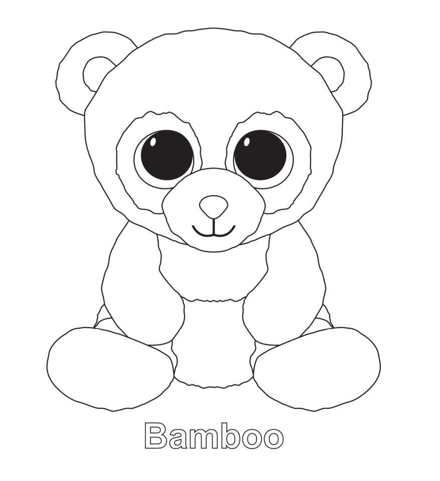 ty beanie boo zig zag the zebra free coloring pages