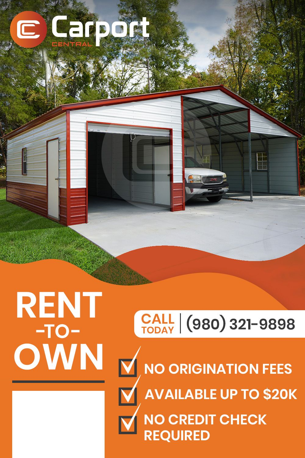 Rent to Own Metal Buildings Carport Central in 2020