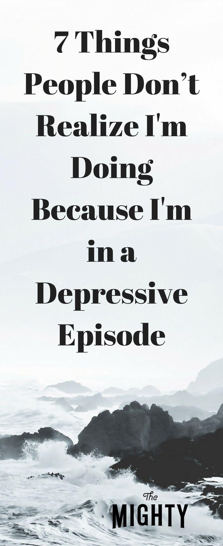 how to get through a depressive episode