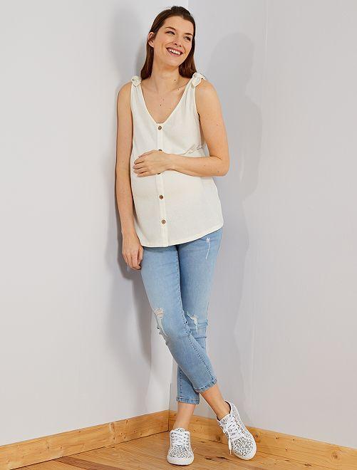 fc5a445119db Jeans premaman slim fit taglio 7 8 BLU Premaman - Kiabi