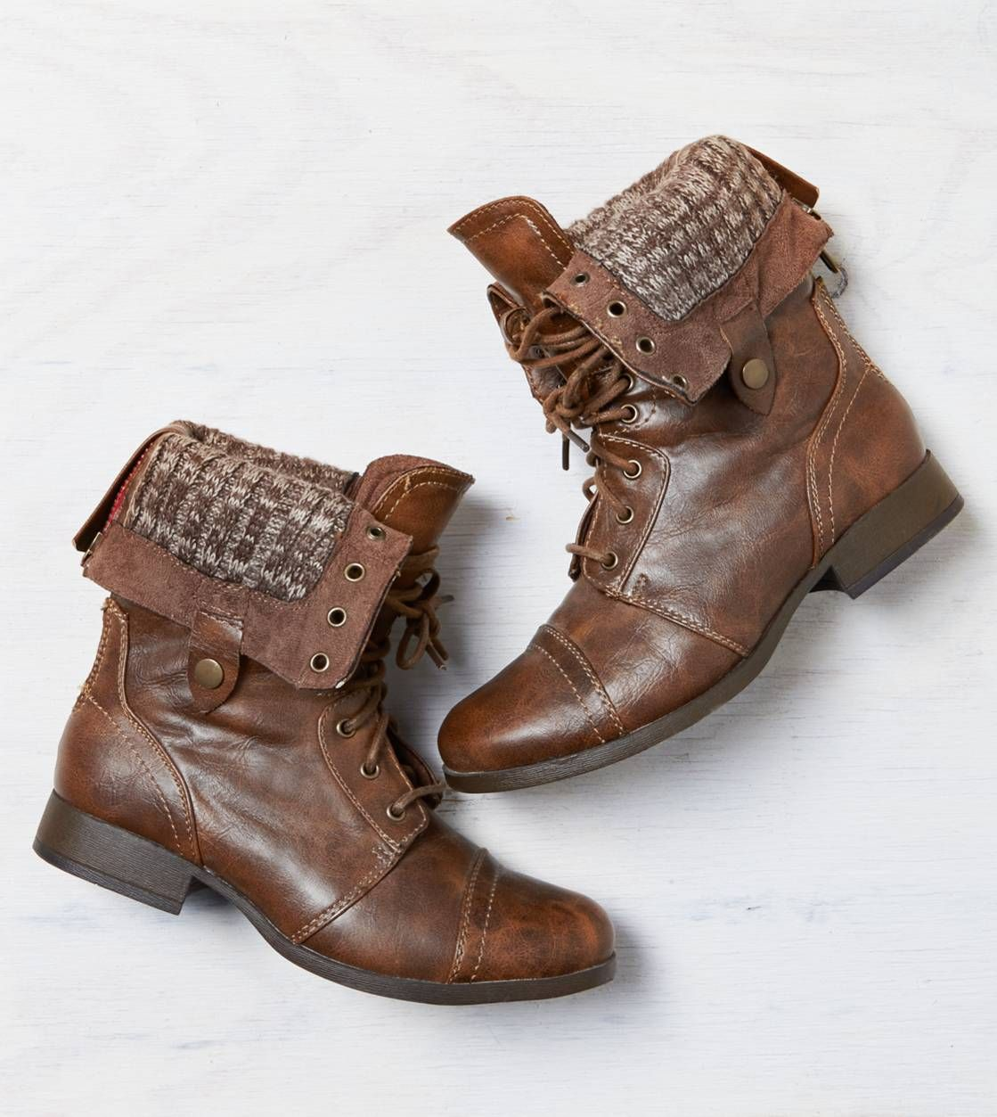 AEO Lace-Up Boot  I NEED THESE SOOOO BAD!! I've been looking EVERYWHERE for a pair like these for MONTHS and I finally found the ones I want, and want them I do!