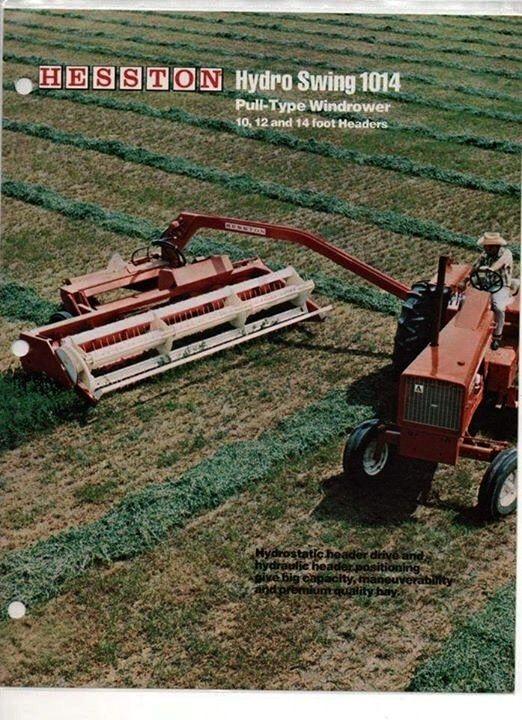 HESSTON Hydro Swing 1014 Pull-Type Windrower Ad | Harvesting
