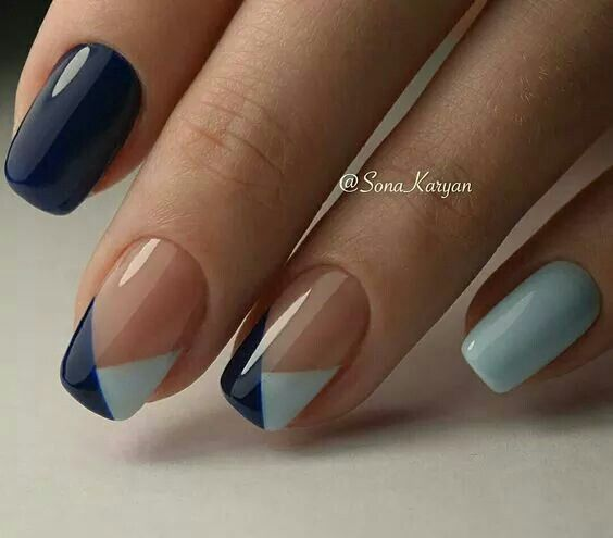 Cute nails art trend. Beautiful, simple, elegant nail art