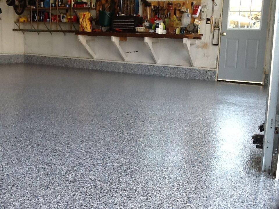 Polyurea And Polyaspartic Floor Coating Full Chip Denim