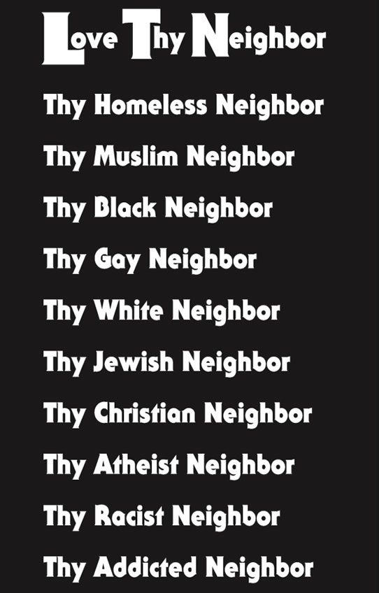 love your neighbour essay teachings jesus Religion essays: cwv-101 mark 8:29 worksheet search  select one teaching of jesus from one of the  'you shall love your neighbor and hate your enemy' 44 but i.