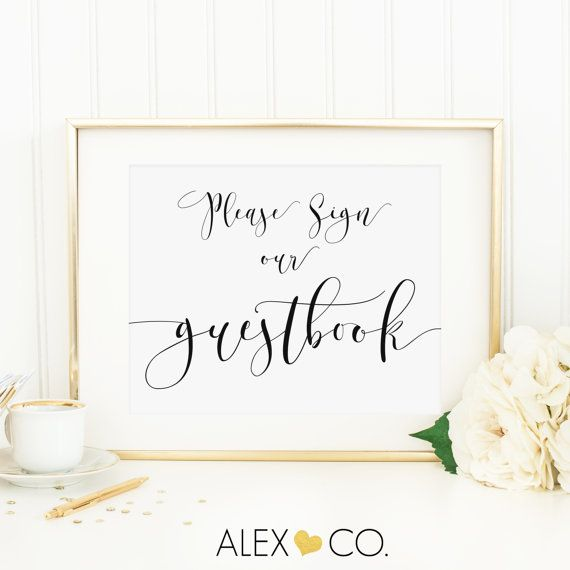 Wedding Guest Book Sign Guestbook Please Our Table Signs Print Printables