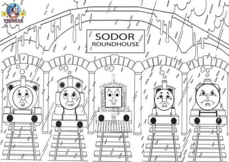All The Trains Of Sodor Island In Thomas And Friends Coloring Page ...