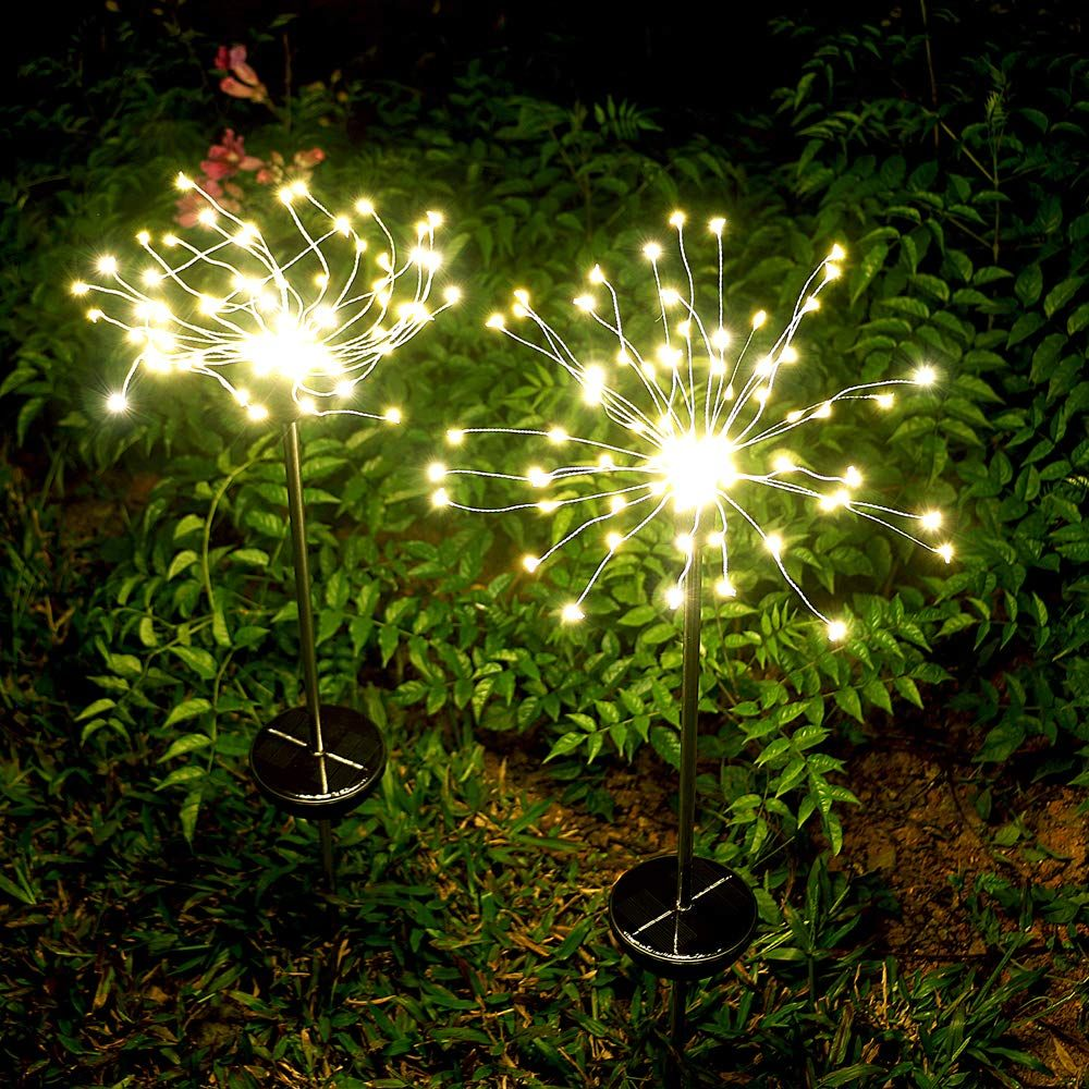 Garden Solar Lights Outdoor 2 Pack Solar Powered Decorative Stake