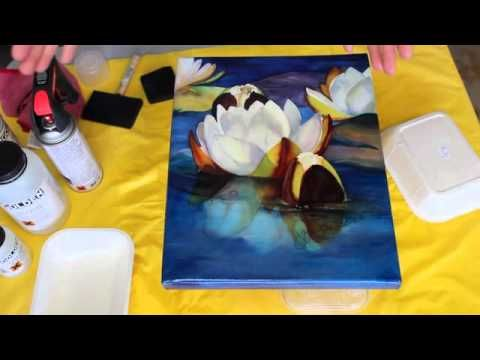 Varnishing Watercolors By Joyce Faulknor Youtube Little