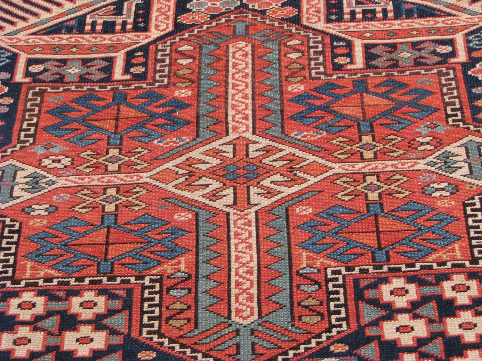 Kazak Antique Rugs Vintage Persian
