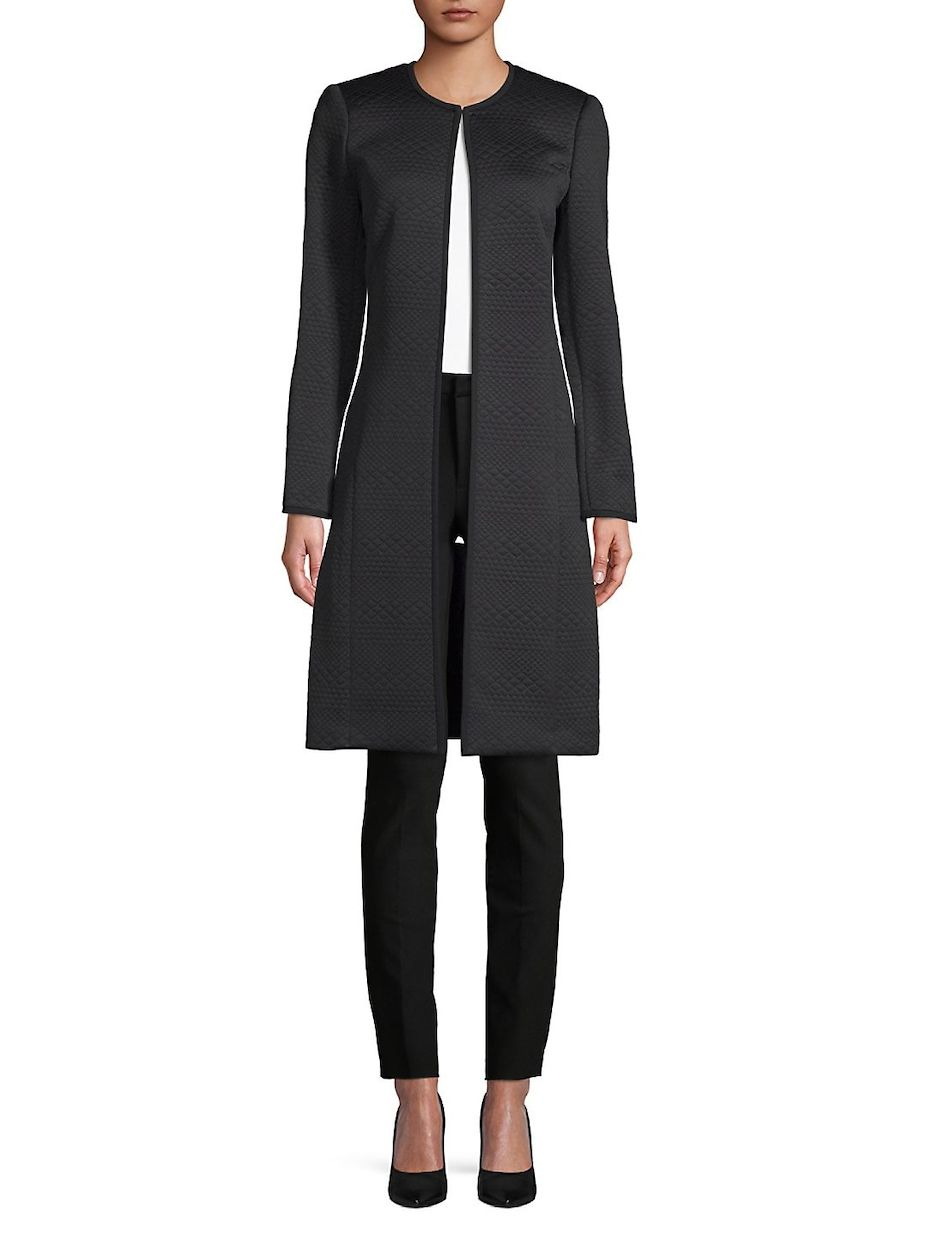 Calvin Klein Quilted Open Front Jacket, #CalvinKlein, #Open, #Quilted