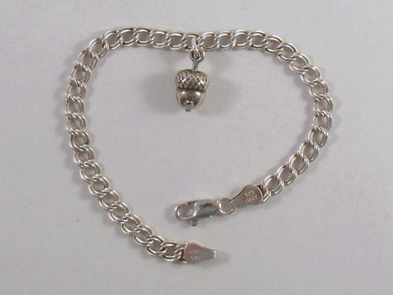 Sterling Silver Traditional Charm Bracelet by GoldChestJewelry, $65.95
