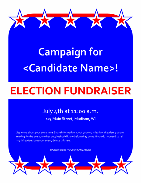 political fundraiser event flyer templates office com dta
