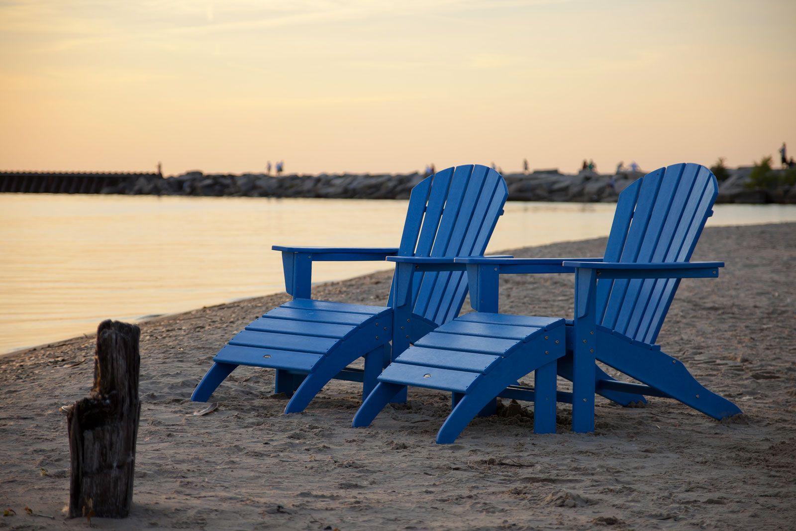 Adirondack chairs patio