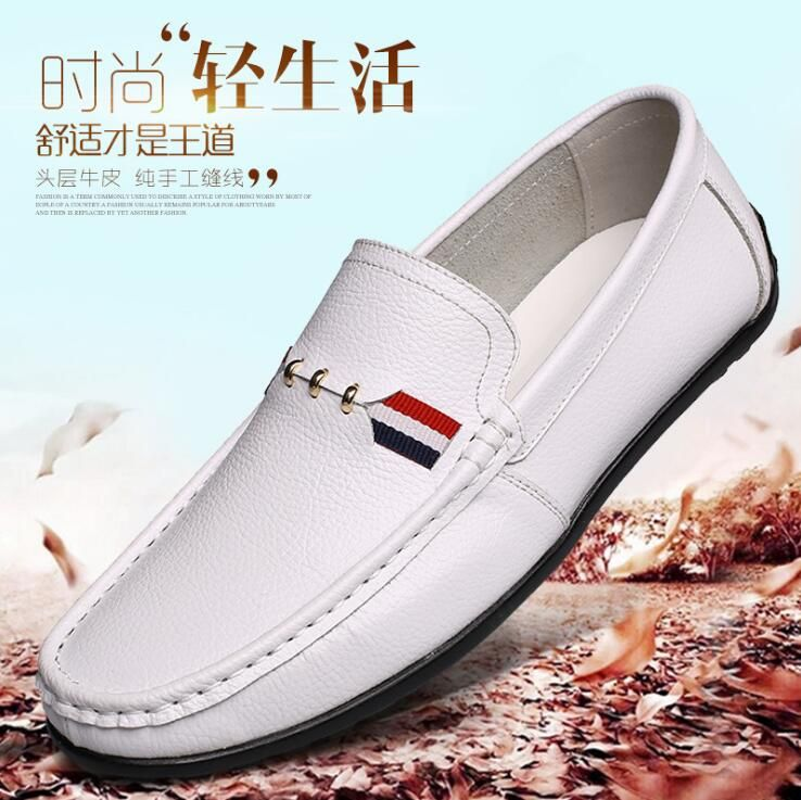 New Fashion Genuine Leather Men Flats Casual Leather Men Shoes High Quality Men Loafers Moccasin Driving Shoes Size 38 44 Loafers Men Loafers Men S Shoes