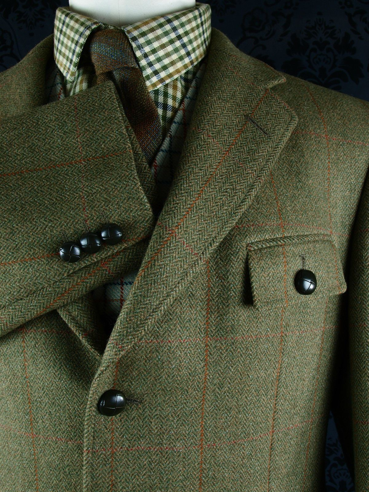 New Superb Mens Tweed Austin Reed Norfolk Shooting Hunting Jacket Blazer 42 S Tweed Blazer Outfit Tweed Men Hunting Jackets