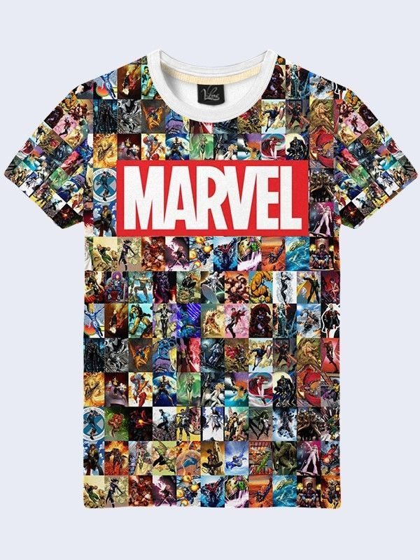 Mens Marvel TShirt Comics Superhero Short Sleeve Tee