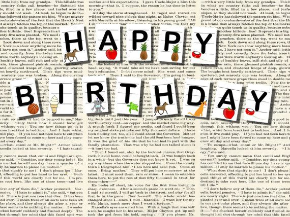 Printable Happy Birthday Flash Card Banner for an alphabet themed – Happy Birthday Wishes Flash Cards