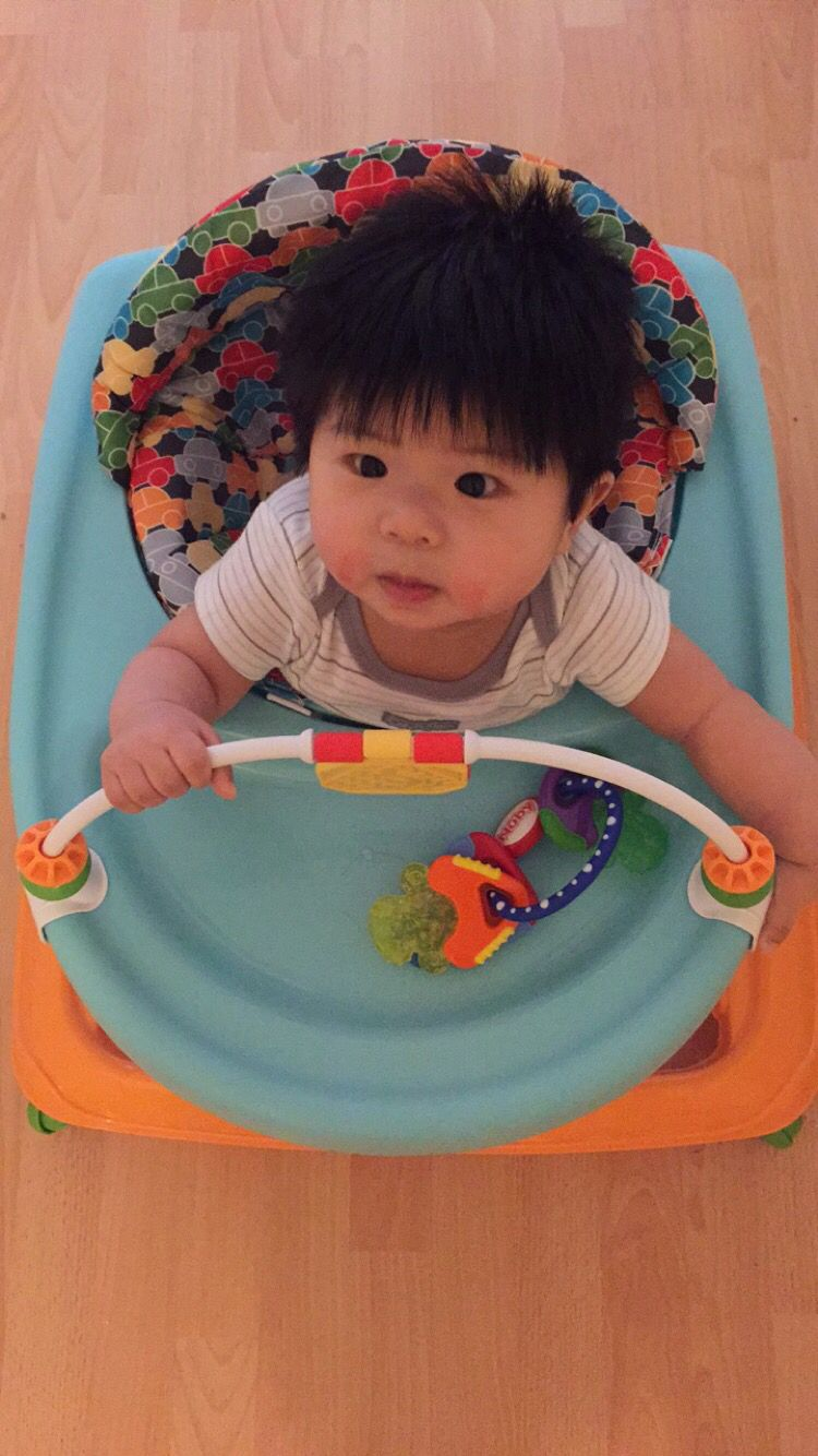 5 month old baby..first time on the walker.